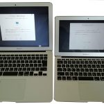 MacBookAir のサイズ比較感想